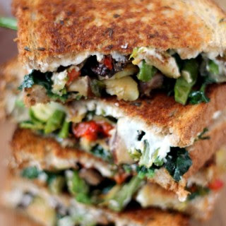 Roasted Vegetable Grilled Cheese Sandwich.