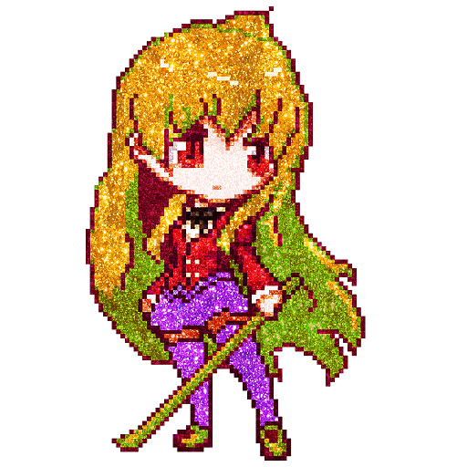 Anime Glitter Color by Number: Pixel Art Coloring Icon