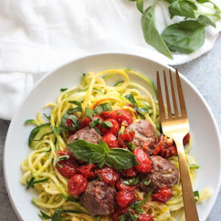 Italian Meatballs with Zoodles (Whole30) Recipe
