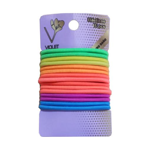 elasticos violet colores x15und