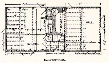 Photo: Floorplan of the Parson Capen house built 1683.