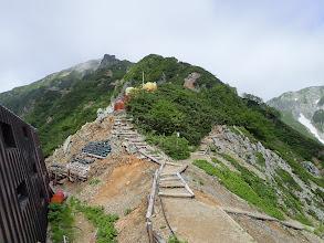 右の登山道へ