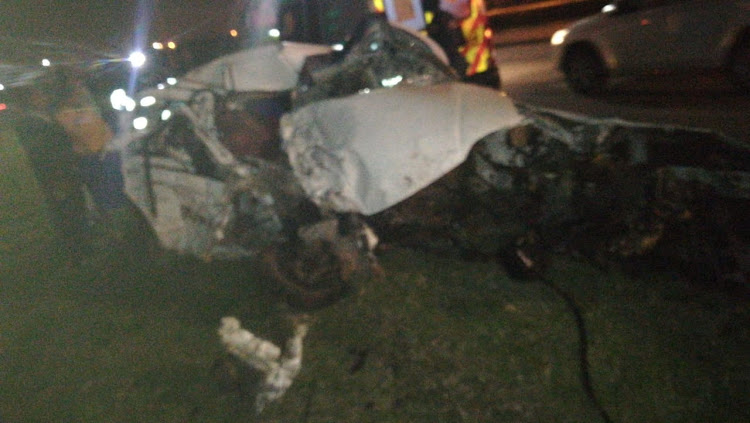 Crash on the M17 in Port Elizabeth on Monday night.