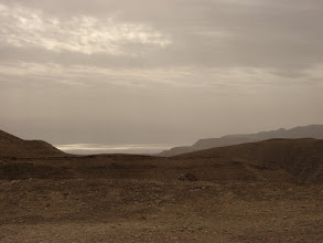 Photo: North tip of Dead sea in background...צפון ים המלח ריקע