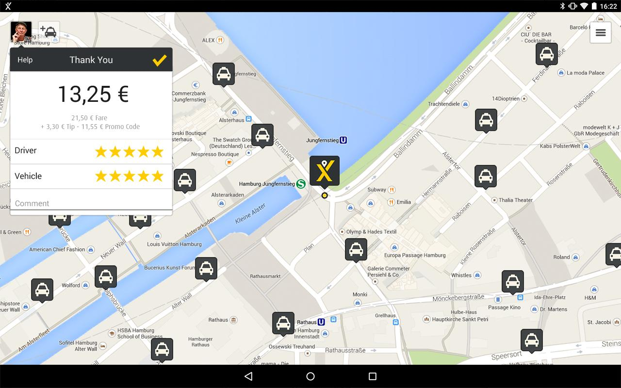 mytaxi – Fast & Secure Taxi Booking App- screenshot
