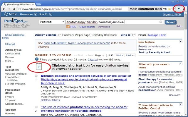 PubMed Citation Manager Shortcut