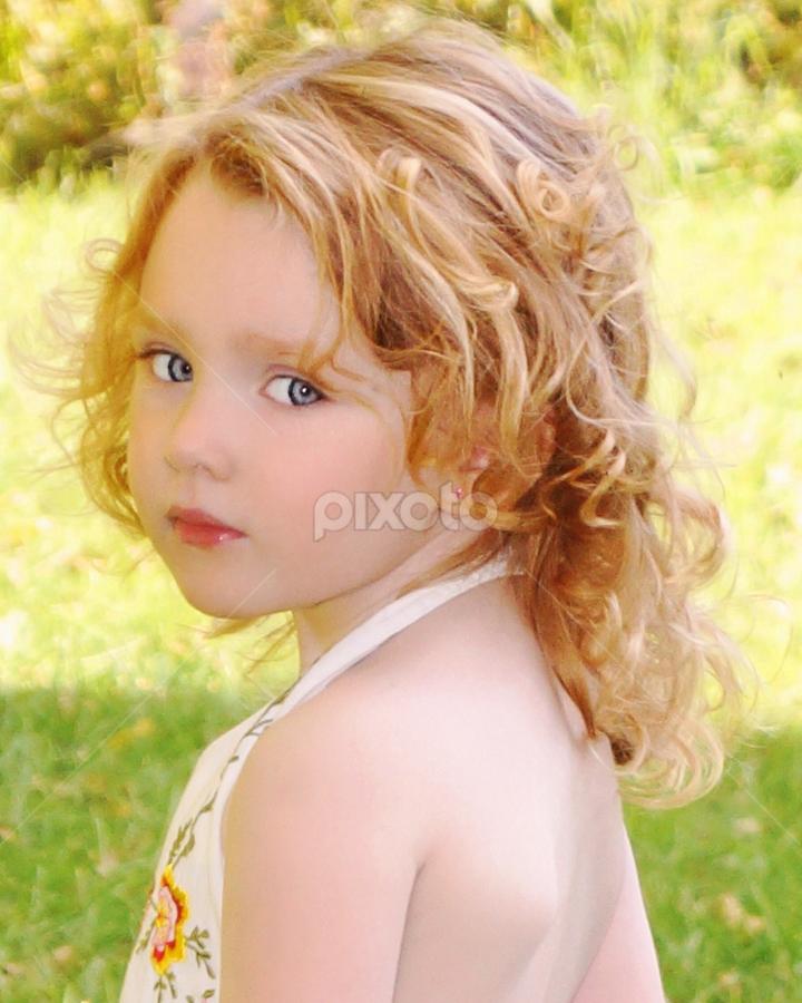 Nevaeh over her shoulder by Cheryl Korotky - Babies & Children Child Portraits (  )