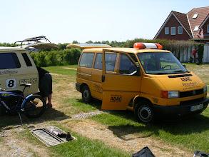 Photo: Der ADAC brachte neue Zündspule fürs Service-Mobil