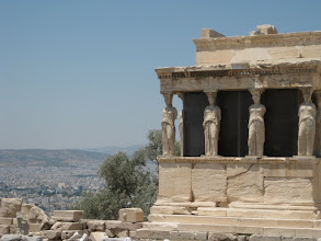 """Photo: The caryatids, or goddesses, represent Women's Strength, or the """"pillar of society"""" in Art History terms"""