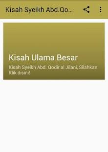 Kisah Hidup Wali Allah Syeikh Abd. Qodir al Jilani - náhled