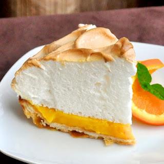 Orange Curd Meringue Tart.