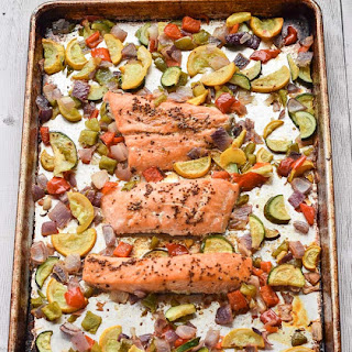 Sheet Pan Apple Cider Glazed Salmon Recipe