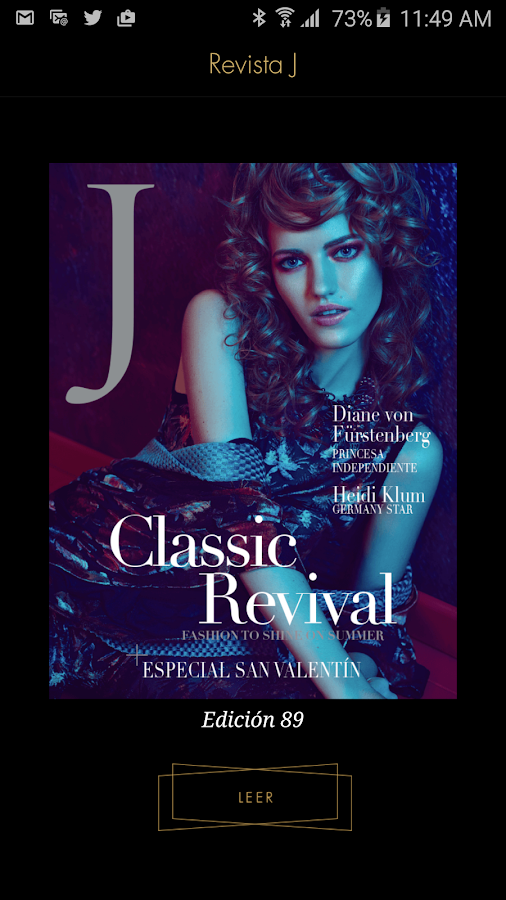 Revista J by Jockey Plaza: captura de pantalla