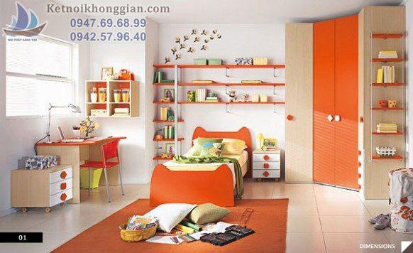 thiết kế phòng ngủ bé trai tránh nơi ồn ào