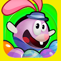 Easter bunny egg jump icon