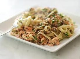 Fettuccine With Smoked Salmon Recipe