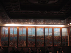 Photo: Someone made a painting of our view of the Bosphorus in the Turkey room.