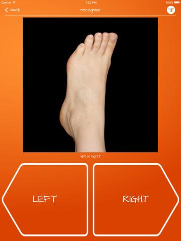 Recognise Foot- screenshot
