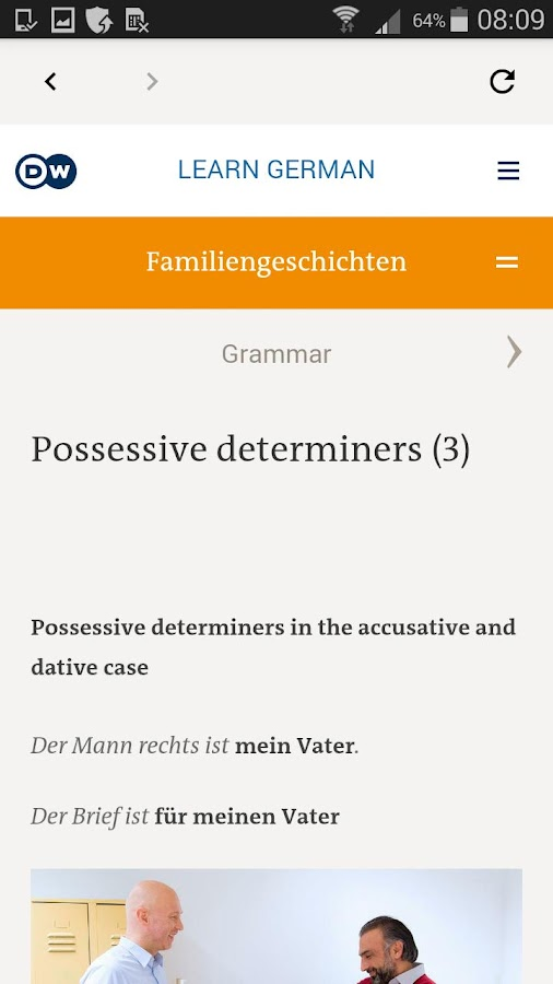 DW Learn German - A1, A2, B1 and placement test- screenshot