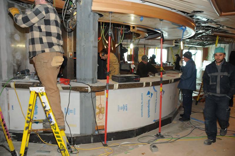 Photo: Sapphire Princess Drydock Update -- January 19: The new Alfredo's Pizzeria is starting to take shape in the atrium.