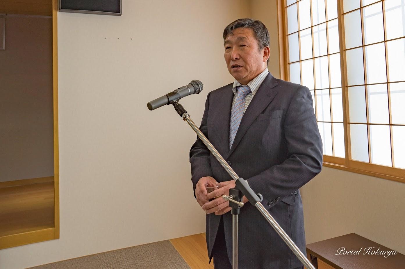 板谷町内会・藤井二郎 会長による乾杯