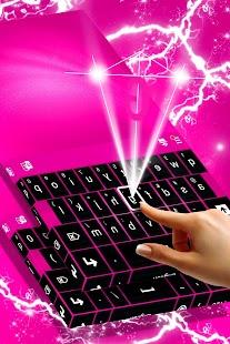 Černá růžová klávesnice Téma - náhled