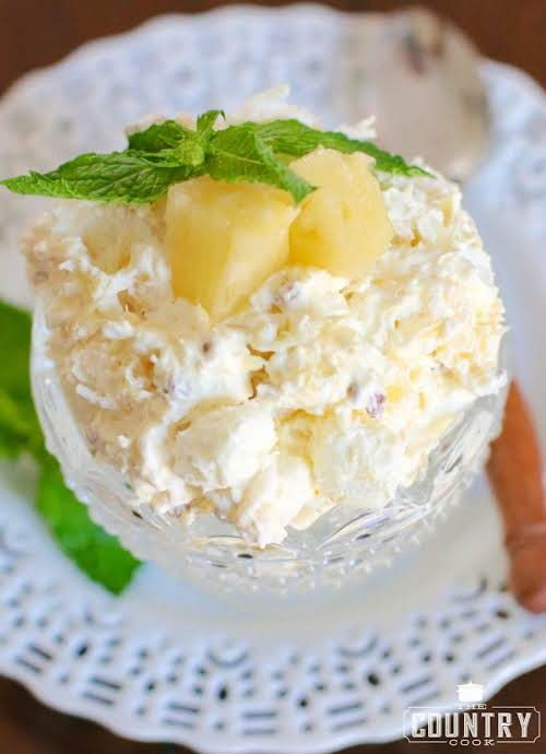 """Click Here for Recipe: Pineapple Fluff """"This Pineapple Fluff is a different..."""