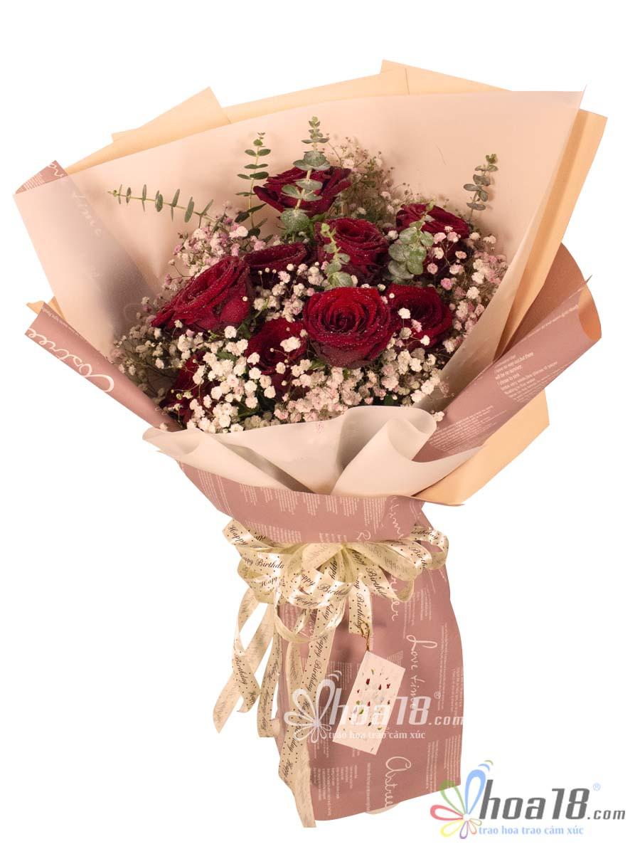 bó hoa tặng ngày lễ tình nhân