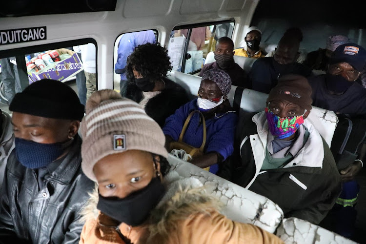 Commuters at Bree Taxi Rank during lockdown level 3 in Gauteng, July 11 2020. Picture: ANTONIO MUCHAVE/SOWETAN