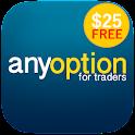 anyoption - free $25 account icon