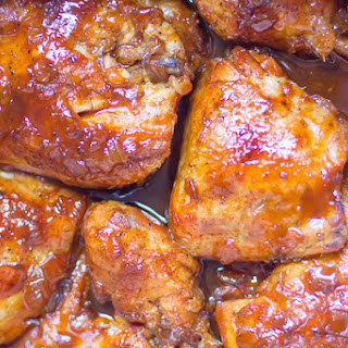 Bourbon Apricot BBQ Chicken