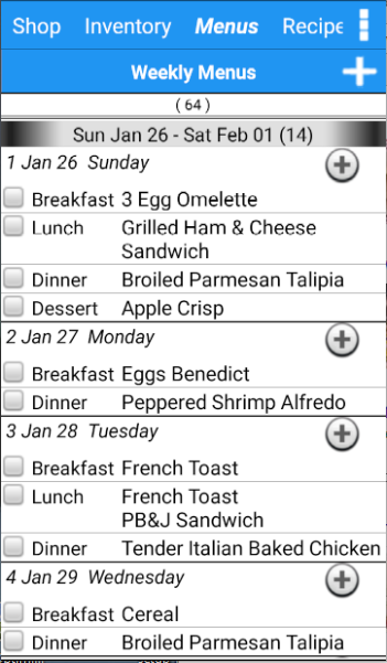 Grocery Tracker Shopping List- screenshot