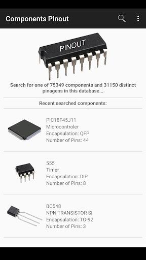 Electronic Component Pinouts Free 12.0 screenshots 1