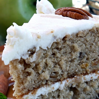 Olivia Walton's Applesauce Cake with Whiskey Frosting.