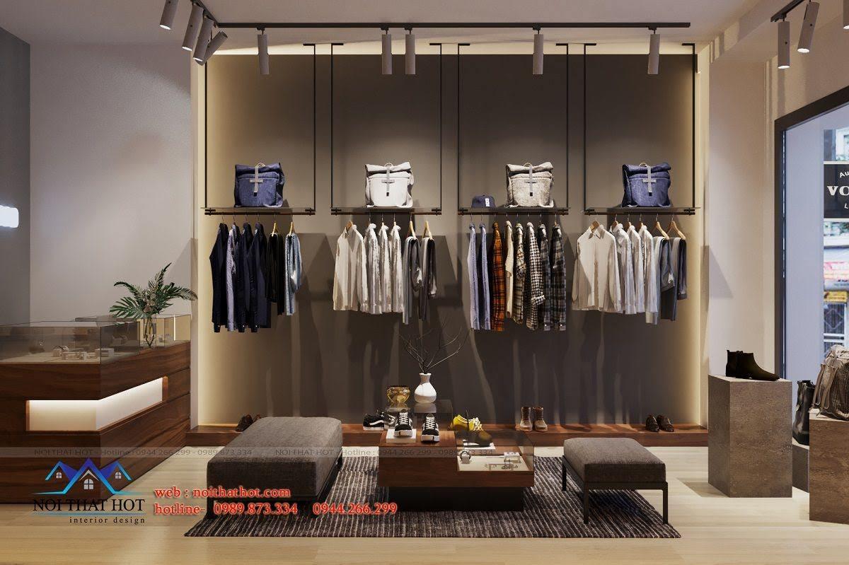 thiết kế shop thời trang nam nhỏ