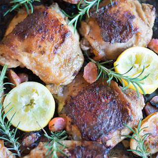 Rosemary Lemon Chicken with Roasted Radishes - low carb, gluten free, feingold