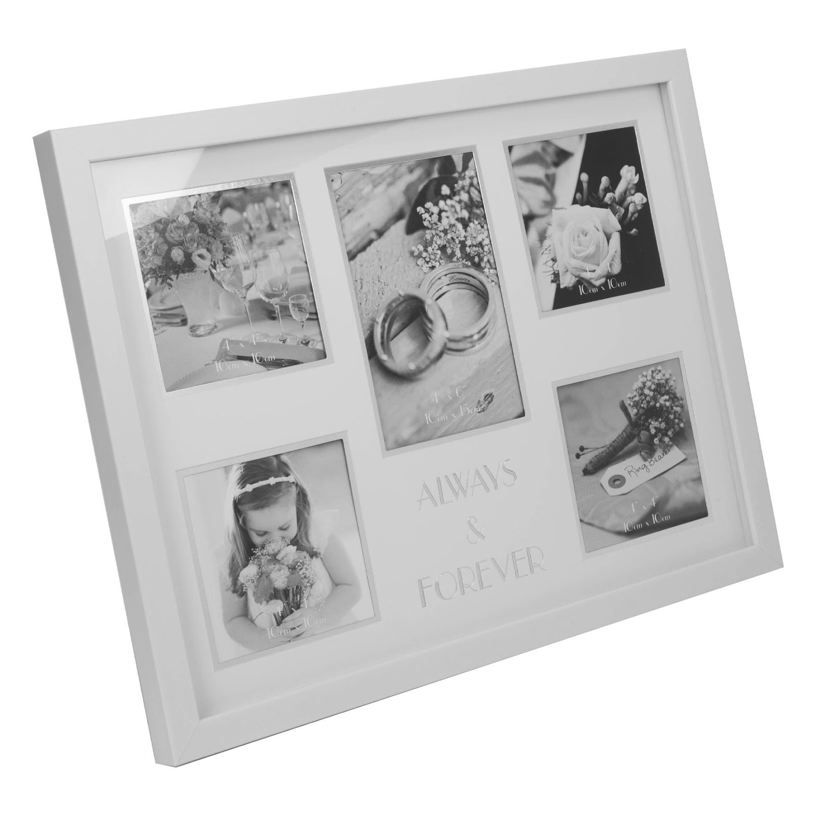 Unique wedding gift ideas; Clintons Always Forever Wedding Collage Photo Frame