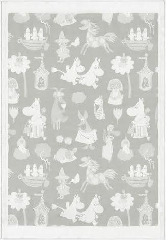 Ekelund Barnfilt Moomin Valley Grey