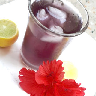 Hibiscus Iced Tea.