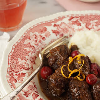 Beef Stew With Orange And Cranberries.