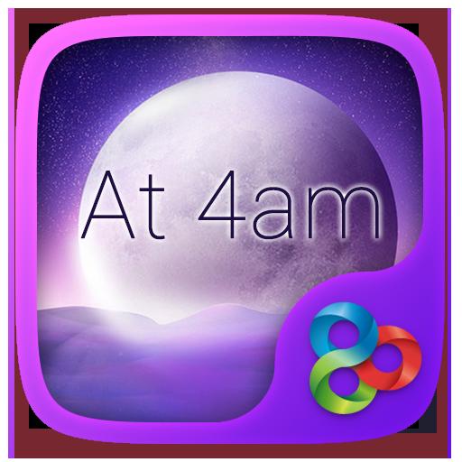 At 4am GO Launcher Theme