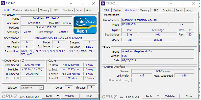 Does GA-H61M-S2PV (R2 0) support IVY BRIDGE Xeon e3-1230v2