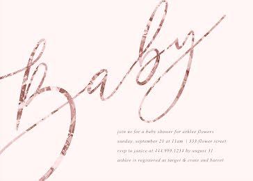 Ashlee's Baby Shower - Baby Shower Invitation Template