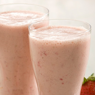 Strawberry Vanilla Smoothie.