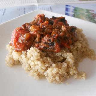 Beef and Tomato Curry Over Quinoa