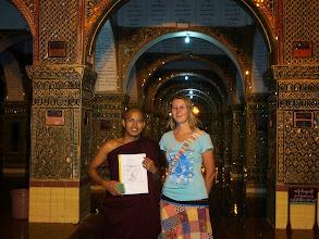 Photo: Kusa la and me on Mandalay hill