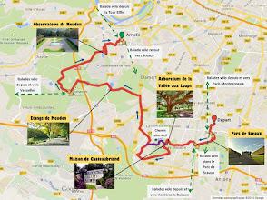 Photo: Itinéraire - e-Guide de balade à vélo de Sceaux à Meudon par veloiledefrance.com - 18 km  Bike route - bike ride e-guide from Sceaux to Meudon by veloiledefrance.com - 18 km