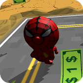 3D Spider Cat Man Run Game