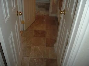 Photo: installation marble tile