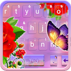 Rose Butterfly Tema de teclado icon